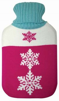 Knitted Pattern Cover Hot Water Bottle  0180120