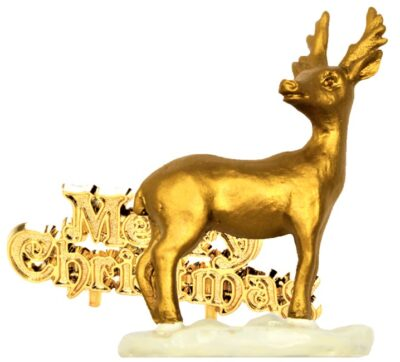 Stag Ressin Topper - Gold   BX287