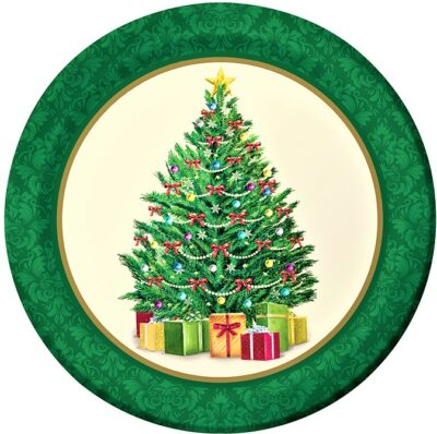 Christmas Tree with Green Rim (pack of 8)  PC317143