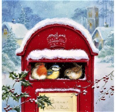 Napkins (pack of 20) - Post Box with Birds PJ310662