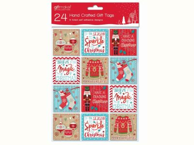 Christmas Handcrafted Gift Tags (pack of 24) XTHTMP