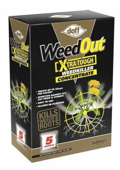 Doff 80ml Weedout Extra Tough Concentrate WeedKiller x5 Sachets 7245