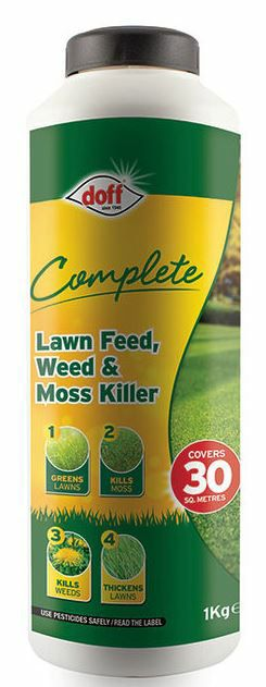 Doff 1Kg Complete Lawn Feed Weed and Moss Killer 7220-1