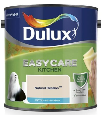 Dulux 2.5L Easy Care Kitchen Paint - Natural Hessian  1508078