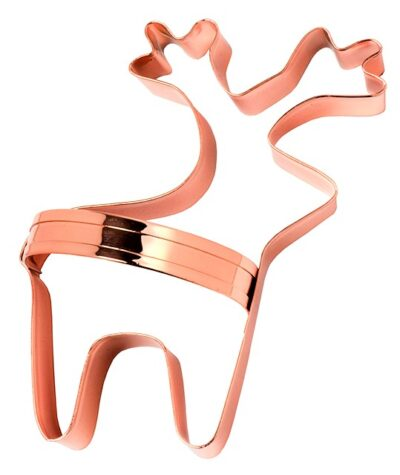 Copper Biscuit Cutter with Handle - Reindeer  853117