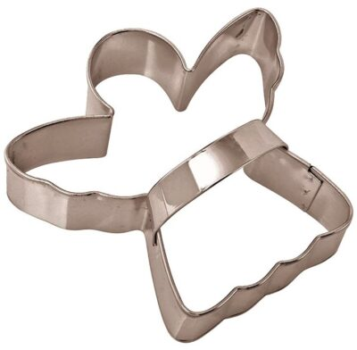 Stainless Steel Cookie Cutter with Handle - Angel  853125