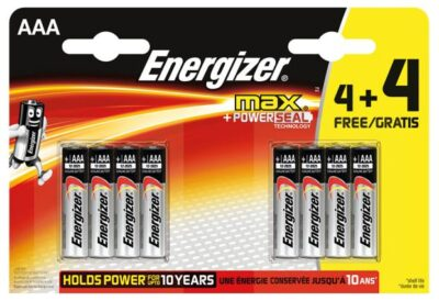 Energizer Max AAA Batteries 4+4 Pack S15271/1884380