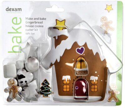 10 Piece Make and Bake Gingerbread House Kit  17848967