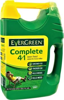 EverGreen 4in1 Complete Lawn Feed Spreader Covers 100sqm 2021567