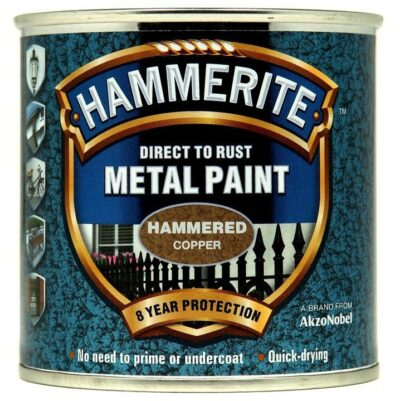 Hammerite 250ml Direct to Rust Metal Paint - Hammered Copper HMMHFCO250 (2460080)