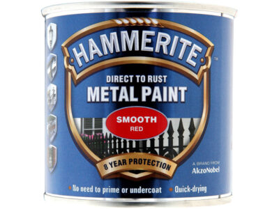 Hammerite 250ml Direct to Rust Metal Paint - Smooth Red HMMSFR250 (2460247)