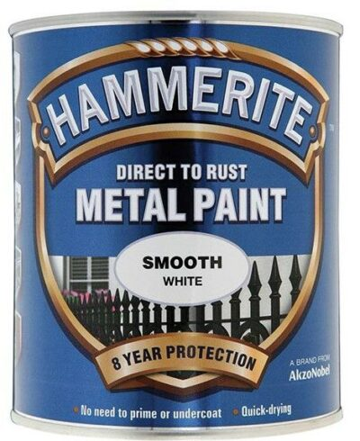Hammerite 750ml Direct to Rust Metal Paint - Smooth White HMMSFW750 (2461832)