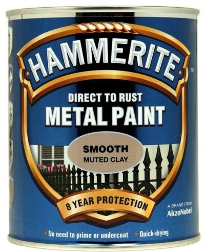 Hammerite 750ml Direct to Rust Metal Paint - Muted Clay 2461921