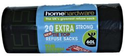 Home Hardware Green Extra Strong Tie Refuse Bags x20 2573588