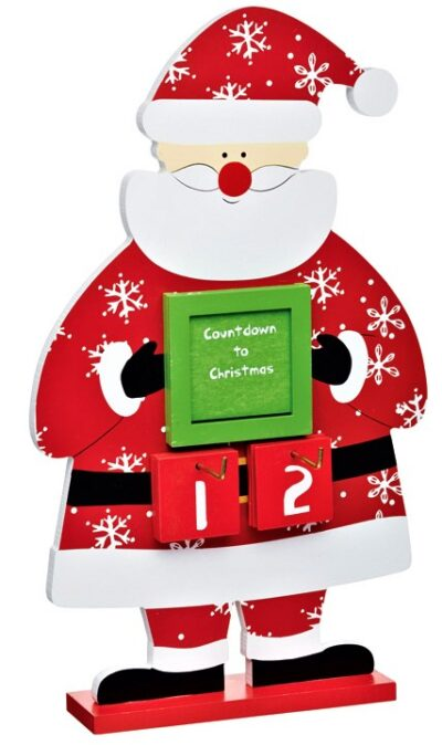 Santa Count Down to Christmas Sign KCSFCOUNT