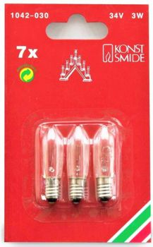 Konstsmide Screw-In Bulbs for 7 Candle Welcome Light  1042-030
