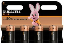 Duracell Batteries C 4 Pack   S358/1541581/MN1400B4