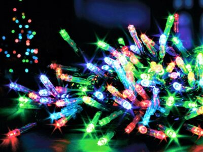 Premier Battery Operated 100 LED Lights - MultiColoured   LB112383M