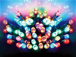 Premier Battery Operated MultiAction 50 LED Time Lights - MultiColoured LB112382M
