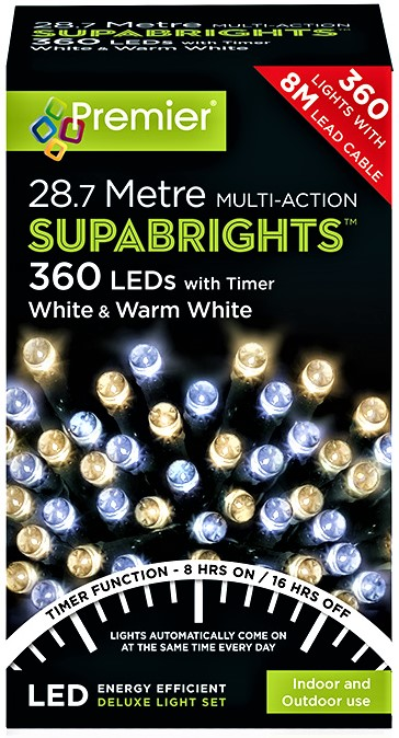 Premier MultiAction SupaBrights 360 LED Lights - White and Warm White LV162171WWW