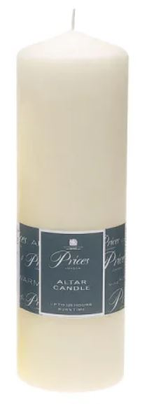 Prices Altar Candle 25x8cm ARS250616