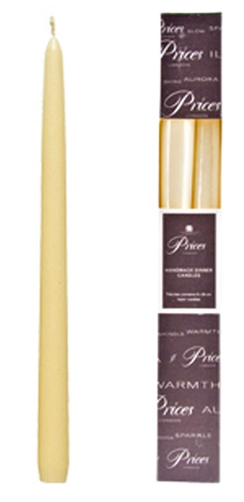 Prices 10 Inch Venetian Wrapped Candle Ivory (Set of 2)
