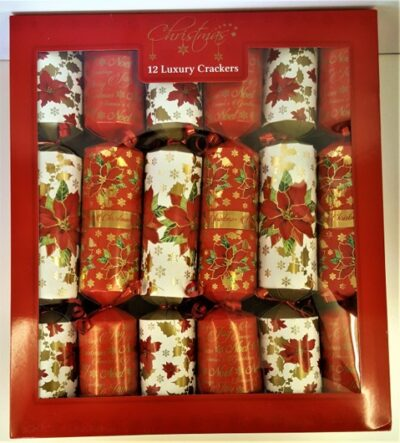 Luxury Crackers (pack of 12) - Poinsetta  XM4825