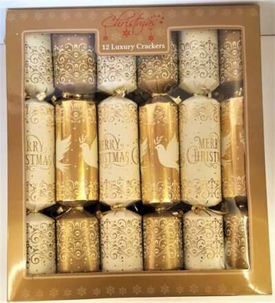 Luxury Crackers (pack of 12) - Gold Dove  XM4829