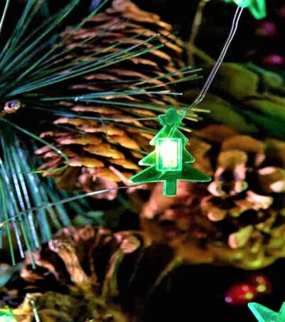 10 LED Battery Operated String Lights - Christmas Tree 2522003