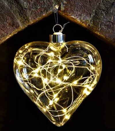 Battery Operated LED Crystalights Heart - Warm White 2512009