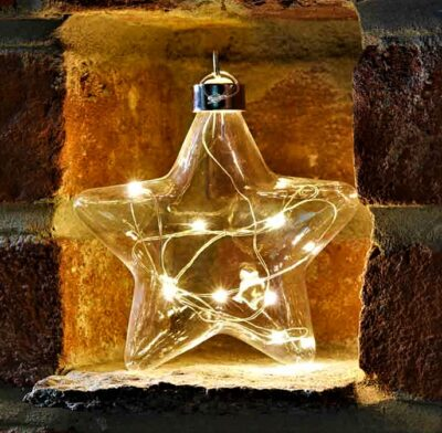 Battery Operated LED Crystalights Star - Warm White 2512010