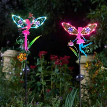 Solar Powered Fairy Wings Stake Lights 1012632
