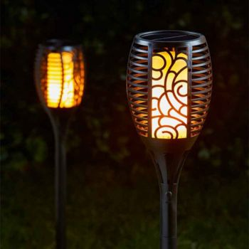 Solar Powered Cool Flame Stake Light 1012620