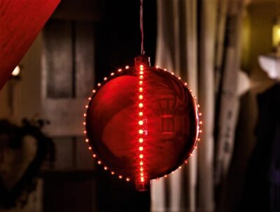 Meteor Shower Bauble - Red  2512016