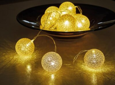 6cm Glowing Globes - Gold   3122073