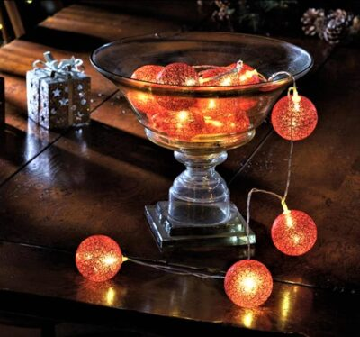 6cm Glowing Globes - Red  3122074