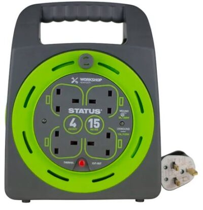 Thermal Cut Out 4 Socket 15 Metre Cable Reel 6771677