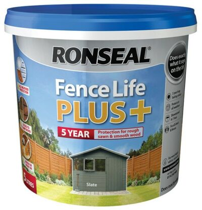 Ronseal 5L Fence Life Plus - Slate  6889183