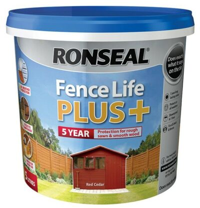 Ronseal 5L Fence Life Plus - Red Cedar  6889199