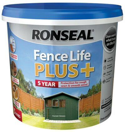 Ronseal 5L Fence Life Plus - Forest Green 6889210