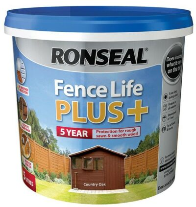 Ronseal 5L Fence Life Plus - Country Oak 6889225