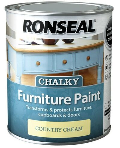 Ronseal 750ml Chalk Furniture Paint - Country Cream 6889356