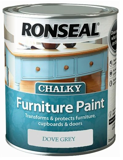 Ronseal 750ml Chalk Furniture Paint - Dove Grey 6889419