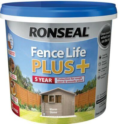 Ronseal 5L Fence Life Plus - Warm Stone 6889492