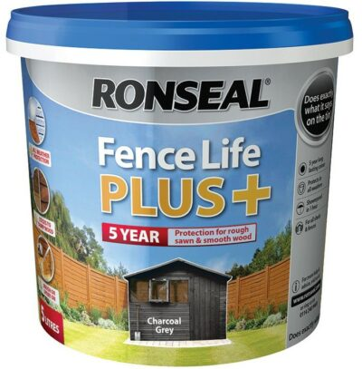Ronseal 5L Fence Life Plus - Charcoal Grey 6889508