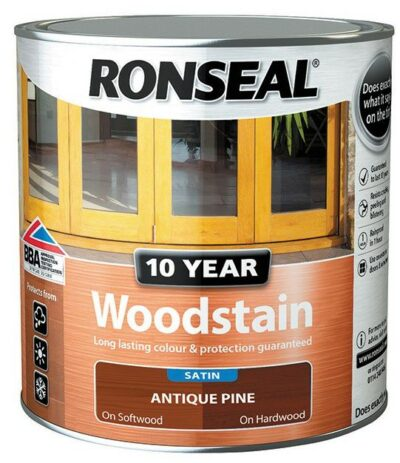 Ronseal 750ml 10 Year Woodstain - Antique Pine   6889986