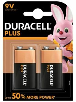 Duracell 9V Battery - Twin Pack    6LR61/1541602/MN1604