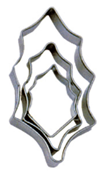 Holly Cutters (set of 3)  9150