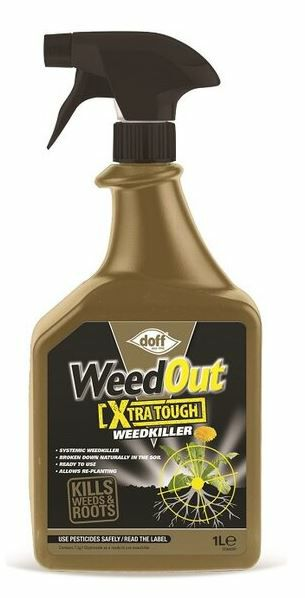 Doff 1 Litre WWeedout Extra Tough Weedkiller Spray 7243