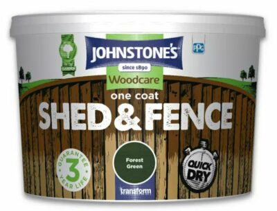 Johnstones 5L One Coat Shed and Fence Woodcare - Forest Green